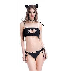 Perfect M_Eshop Sexy Bedroom Outfits Lovers Schoolgirls Cop Lingerie Erotic Bedroom  Costume Teddy Set (Cat)