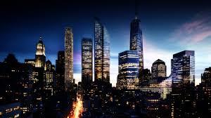 lights city lights buildings sky wallpaper background 4k ultra hd 3840x2160
