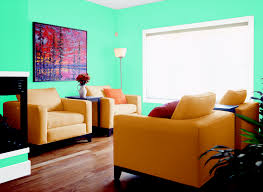 Orange And Blue Living Room Living Room In Echo Lake Aqua Living Rooms Rooms By Color