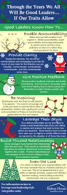 holiday leadership infographic traits of a good leader bishop holiday christmas infographic