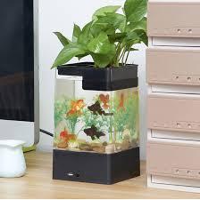 office desk fish tank. Simple Desk LED InBuilt Office Desk Fish Tank With Filter To