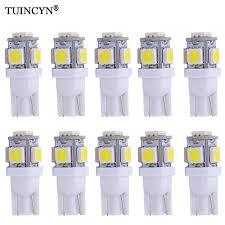 TUINCYN <b>2Pcs W5W LED T10 LED</b> Bulbs Orange Red Car Lights ...