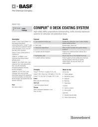 Basf Conipur Ii Base Coat Product Data Sheet Brock White