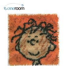 bz3 cartoon boy hook rug kit pillow diy unfinished crocheting yarn mat latch hook rug kit