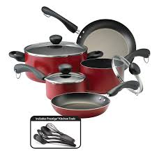 Non Stick Kitchen Appliances Farberware Easy Clean Dishwasher Safe Aluminum Nonstick 12 Piece
