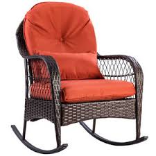 wicker rocking chair. Patio Rattan Wicker Rocking Chair Porch Deck Rocker Outdoor Furniture W/ Cushion O