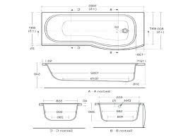 bathtub dimensions standard inches images for