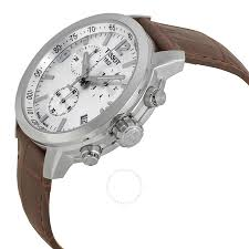 tissot prc 200 chronograph silver dial brown leather men s watch tissot prc 200 chronograph silver dial brown leather men s watch t0554171603700