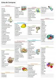 Lista De Compras Supermercado Lista De Compras Supermercado