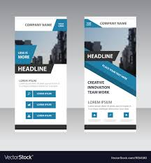 Design Corporate Blue Corporate Roll Up Banner Template Design