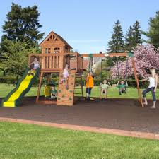full size of patio outdoor woodplay swing sets outdoor swing and slide wooden playset