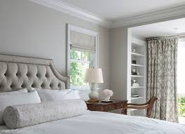traditional master bedroom grey. Desk As Nightstand Traditional Master Bedroom Grey