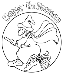 Witch Coloring Page Free Printable Color Pages Kids Halloween