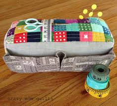 crazy mom quilts: the carry-all pin cushion & I pieced the top panel from scraps (of course!), and then quilted it with  simple straight lines. I chose to keep the rest of the fabrics pretty  low-key, ... Adamdwight.com