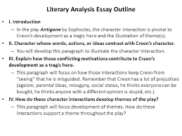 writing a literary analysis essay on characterization and theme  literary analysis essay outline i
