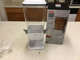 countertop cereal dispenser by oxo good grips clear white needs a