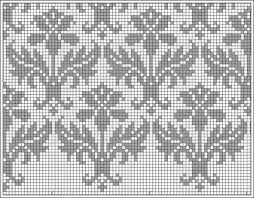 Thistle Knitting Chart Thistle Repeat Chart Knitting Stitches Knitting Patterns