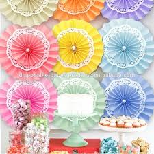 neon pink party pinwheel decorations paper fans backdrop hanging paper fans solid color party round hanging