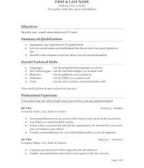 Great Objectives For Resume Resume Objectives Templates Unusualr It Objective Examples Entry 50