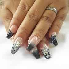 Diseños de uñas acrilicas negras : Unas Acrilicas Negras Nails By Visna Rivera Facebook