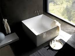 Cedar Hot Tub  Japanese Soaking Tubs  Free Standing Bathtubs Square Japanese Soaking Tub
