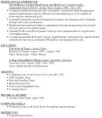 Resume Coach Beauteous Soccer Resume Template For College Football Coach Resume Example