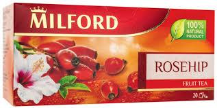Купить <b>чай фруктовый Milford</b> rosehip 20 пакетиков, цены в ...