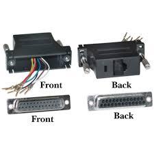 modular adapter db male to rj black modular adapter black db25 male to rj45 part number 31d3 3720bk