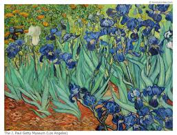 artist vincent van gogh irises completion date 1889 style post impressionism technique oil material canvas gallery getty museum los angeles usa