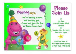 barney party invitation template birthday card beautiful birthday invitations cards birthday