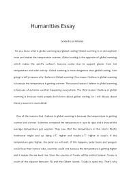 global warming essays your childhood memories essay persuasive  humanities essay
