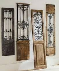 vintage gate wall art