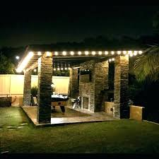 How To Hang Outdoor String Lights Delectable Outdoor Patio Lighting Hanging Outdoor Patio Lights On Solar Lights