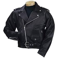 men s burk s bay leather motorcycle jacket black