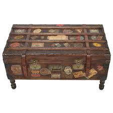 vintage travel trunk coffee table by arthur eymann from mille france for