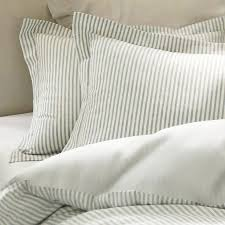 vintage ticking stripe duvet cover sham blue traditional duvet covers pottery barn very inviting bedding