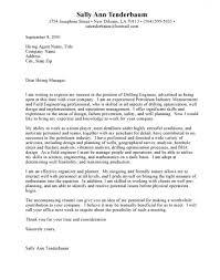 Well Engineer Cover Doc Sample Cover Letter For A Mechanical Within