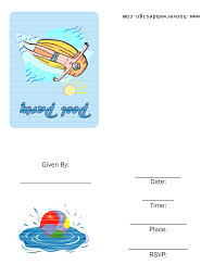 Free Printable Birthday Invitation Templates For Kids Pool P Good Swimming Party Invitation Template Free Birthday The