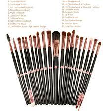 v5 pro 20pcs eye brushes cosmetic makeup brushes set soft powder foundation eyeshadow eyeliner lip brush kit make up brush sets in makeup brushes tools