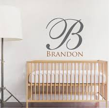 big initial name wall decal custom