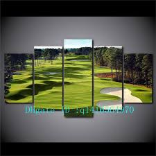 2018 golf course canvas prints wall art oil painting home decor unframed framed from q1416564970 15 38 dhgate com on golf club wall art with 2018 golf course canvas prints wall art oil painting home decor