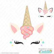 Search images from huge database containing over 290,000 silhouettes. Ice Cream Unicorn Face Free Svg File Clipart For Cricut Silhouette