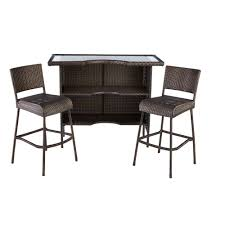 Hampton Bay Beverly 3 Piece Wicker Outdoor Patio Bar Set 65 509462