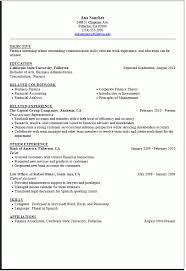Internship Resume Sample Career Center Csuf With Student Resume