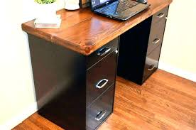 white desk with file cabinet small desks amazing of drawers student messy covered in folders
