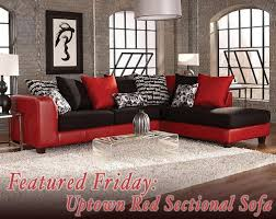 Featured Friday Uptown Red Sectional Sofa
