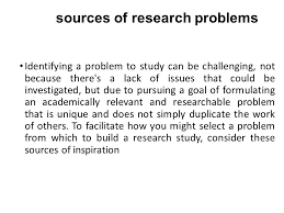formulating a research problem r esearch areas and topics ppt  3 sources