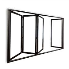 bi fold glass walls in aluminum