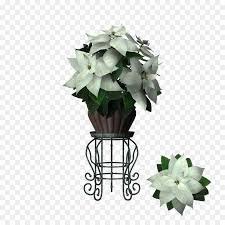 Blumentopf Blumen Design Weihnachtsstern Marihuana Blatt