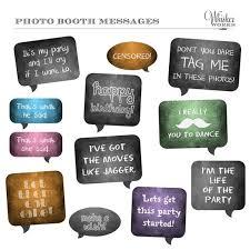 diy photo booth printables chalkboard signs birthday